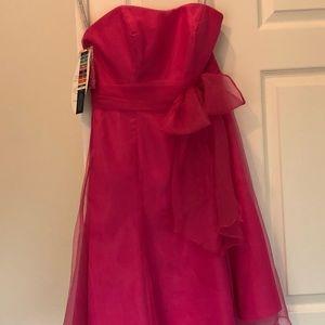 Alfred Angelo Taffeta tube top bridesmaid dress